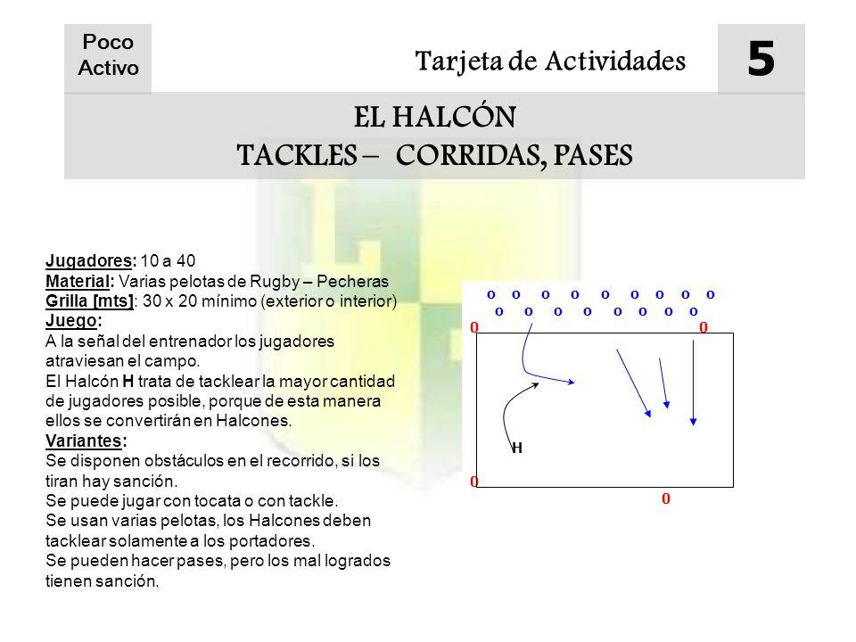TACKLES – CORRIDAS, PASES