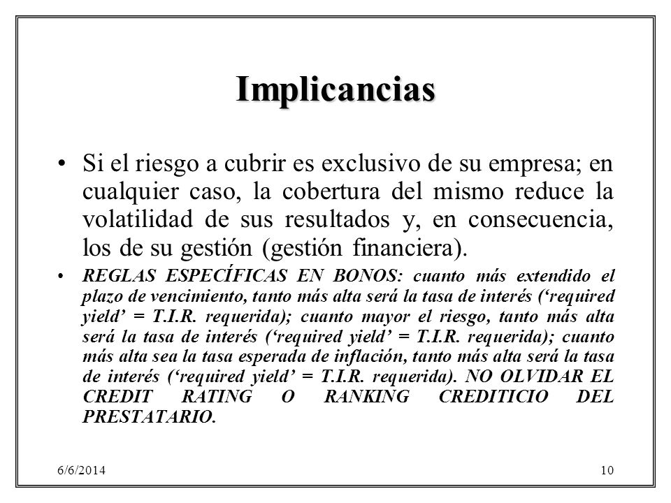 Implicancias