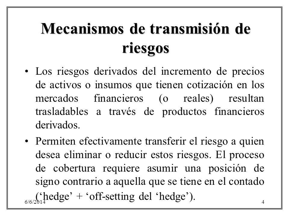 Mecanismos de transmisión de riesgos