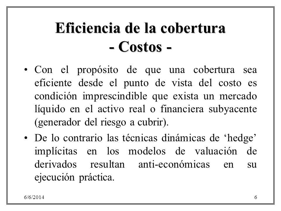 Eficiencia de la cobertura - Costos -