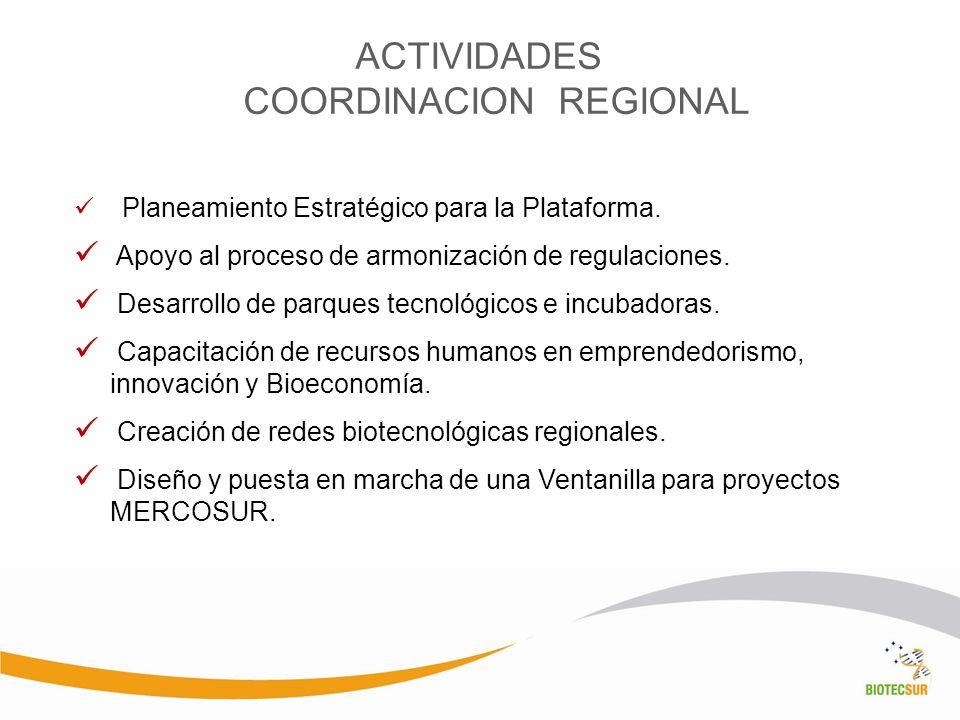 ACTIVIDADES COORDINACION REGIONAL