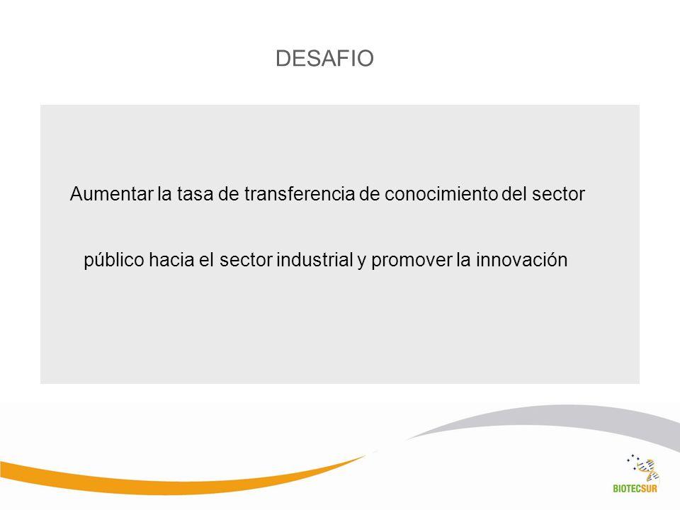 DESAFIO público hacia el sector industrial y promover la innovación