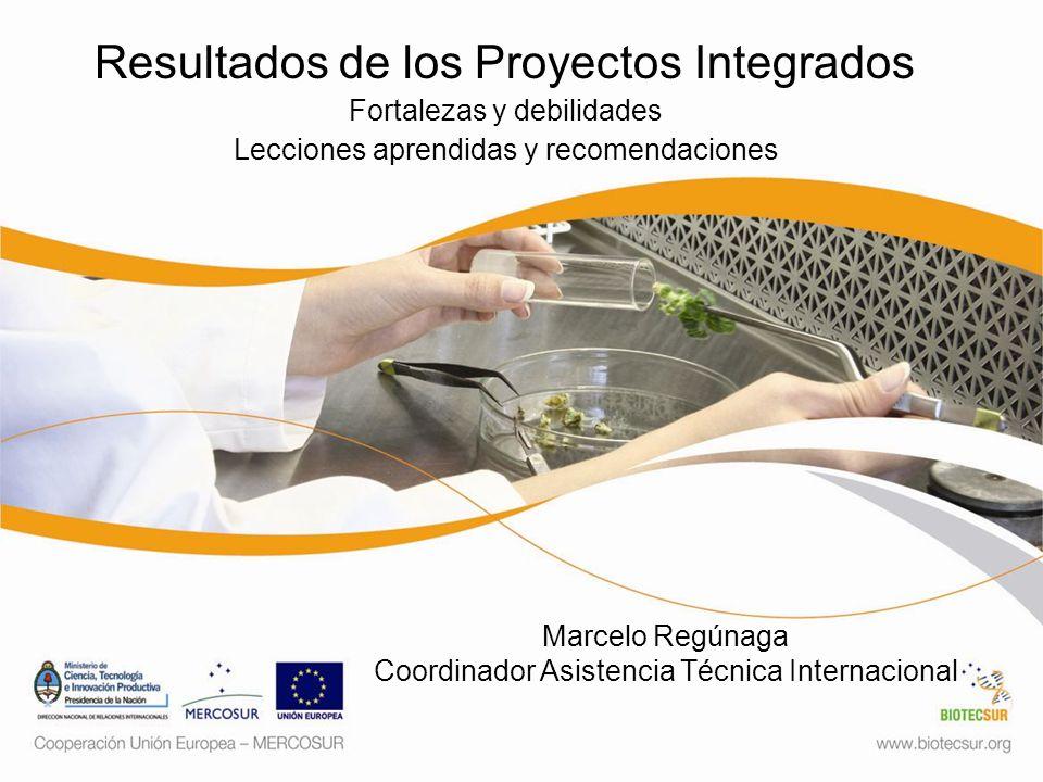 Resultados de los Proyectos Integrados