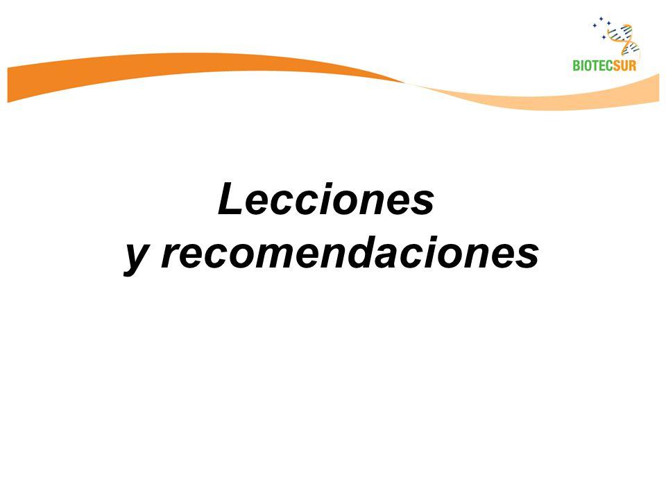 Lecciones y recomendaciones