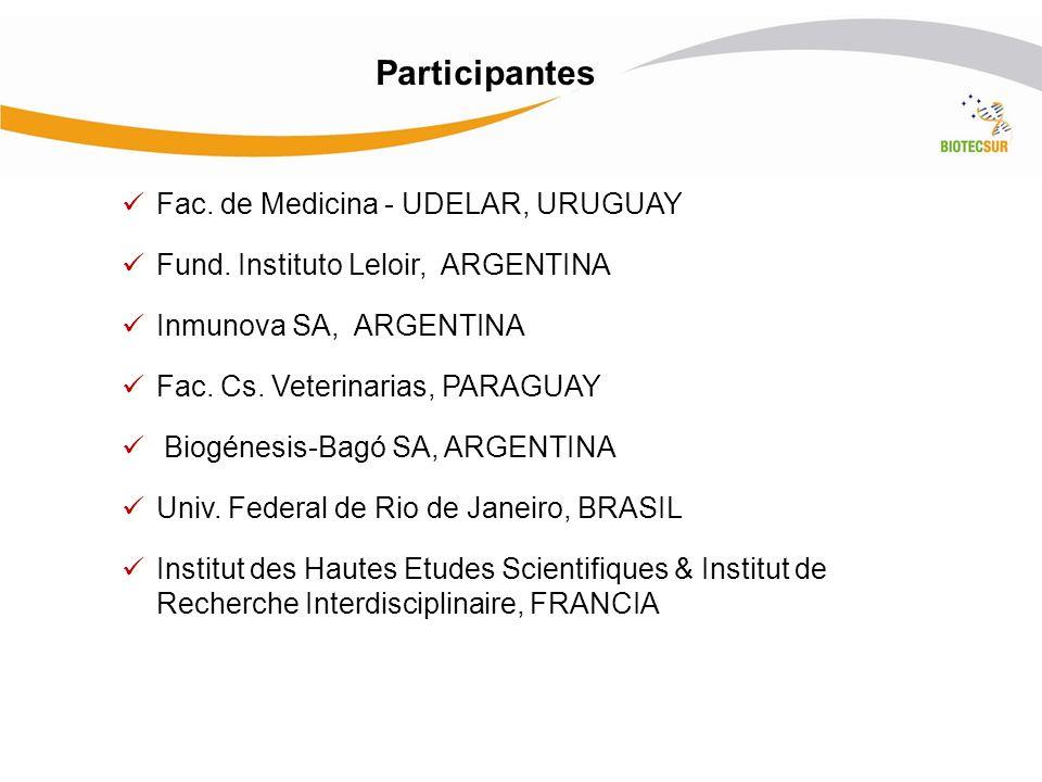 Participantes Fac. de Medicina - UDELAR, URUGUAY