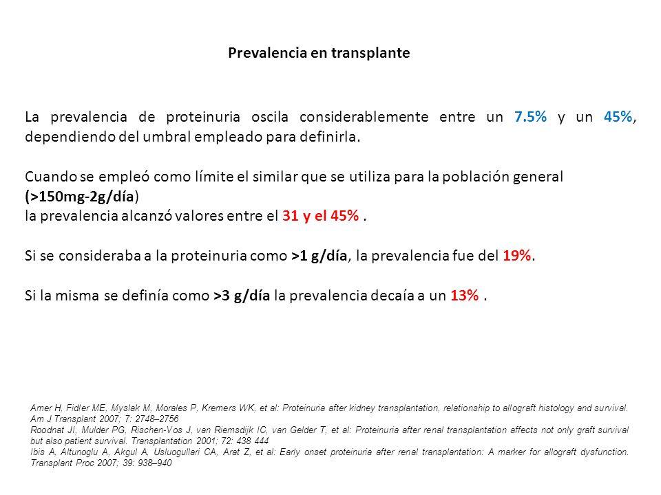 Prevalencia en transplante