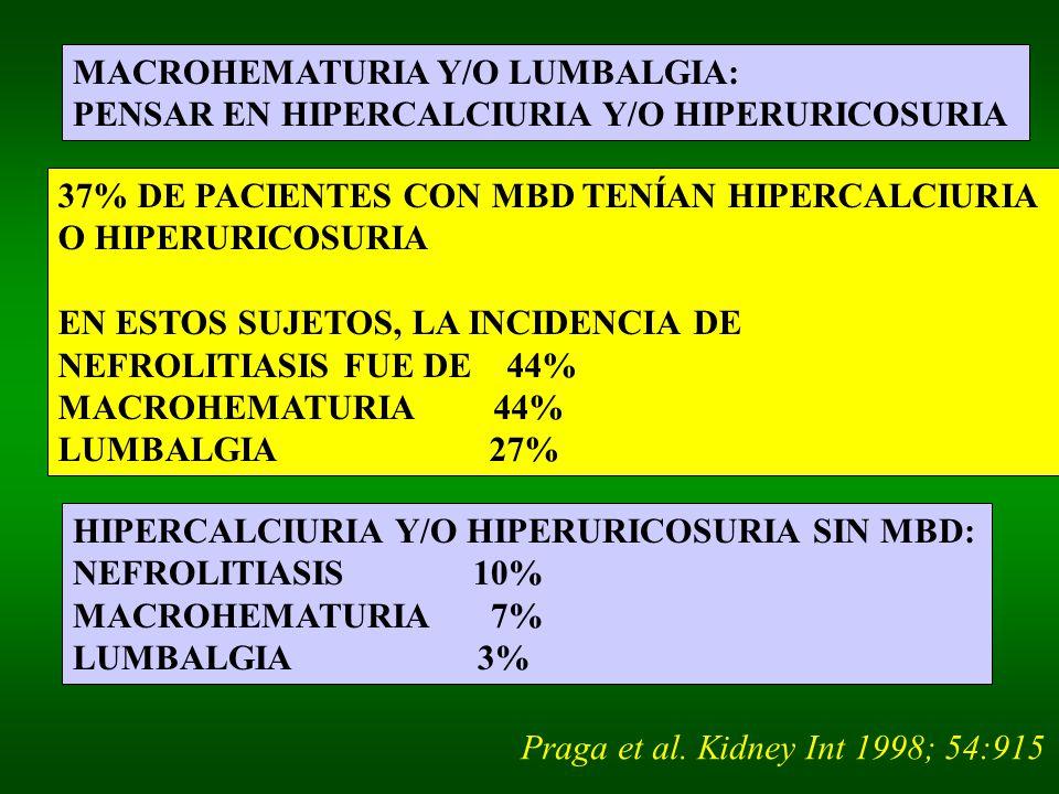 MACROHEMATURIA Y/O LUMBALGIA: