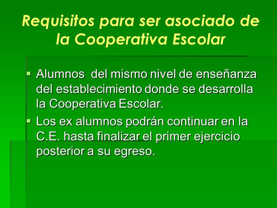 Requisitos para ser asociado de la Cooperativa Escolar