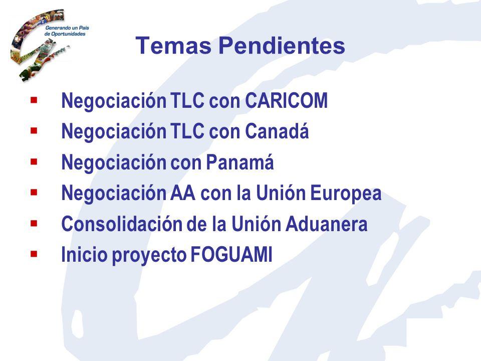 Temas Pendientes Negociación TLC con CARICOM