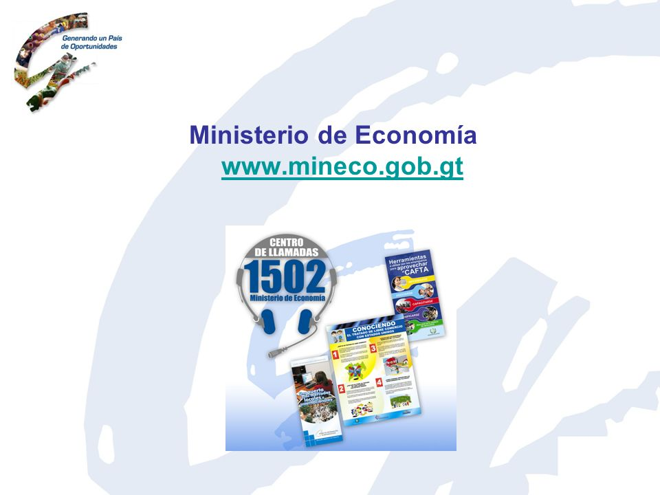 Ministerio de Economía www.mineco.gob.gt