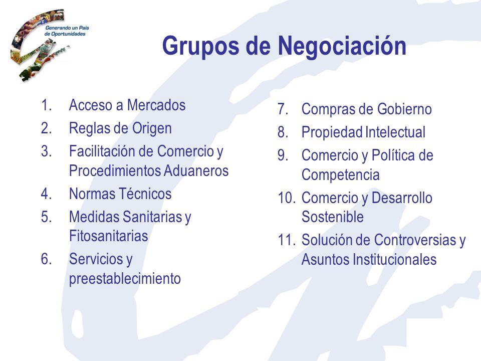 Grupos de Negociación Acceso a Mercados Compras de Gobierno