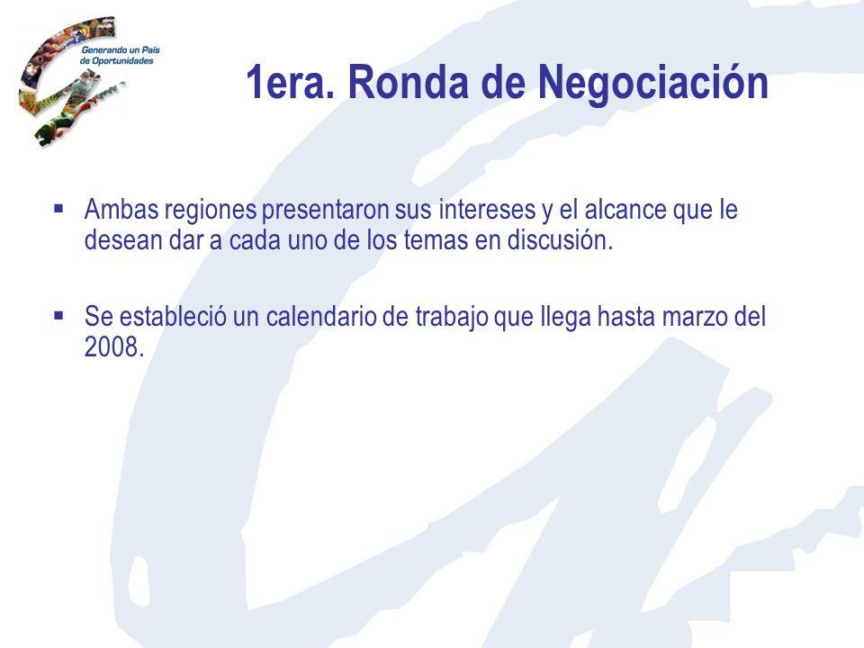1era. Ronda de Negociación