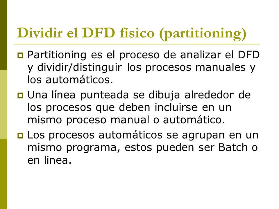 Dividir el DFD físico (partitioning)