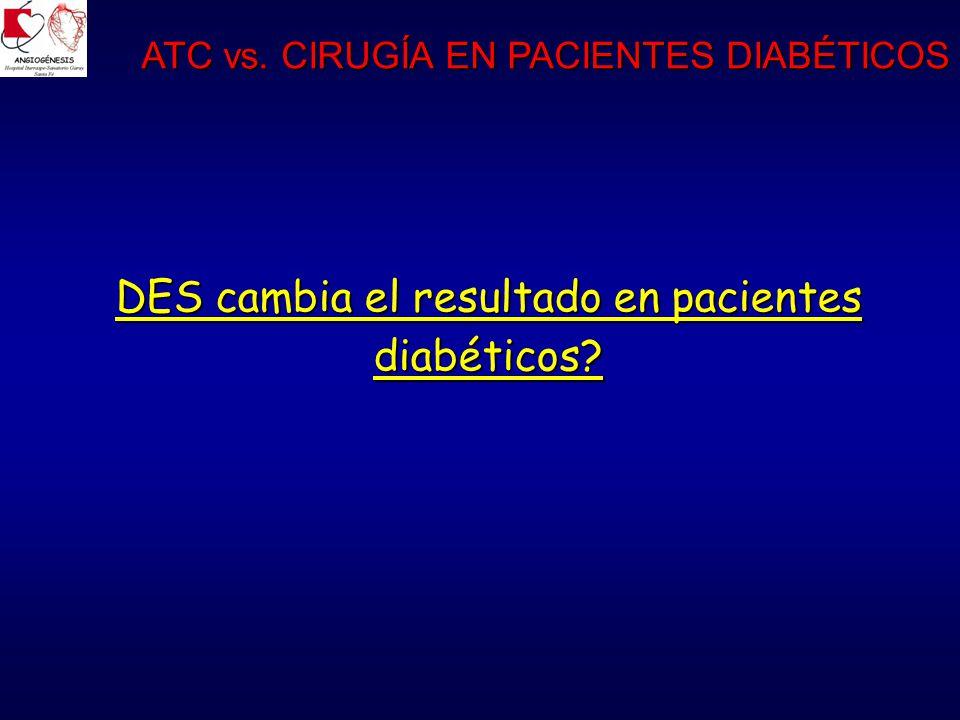 DES cambia el resultado en pacientes diabéticos