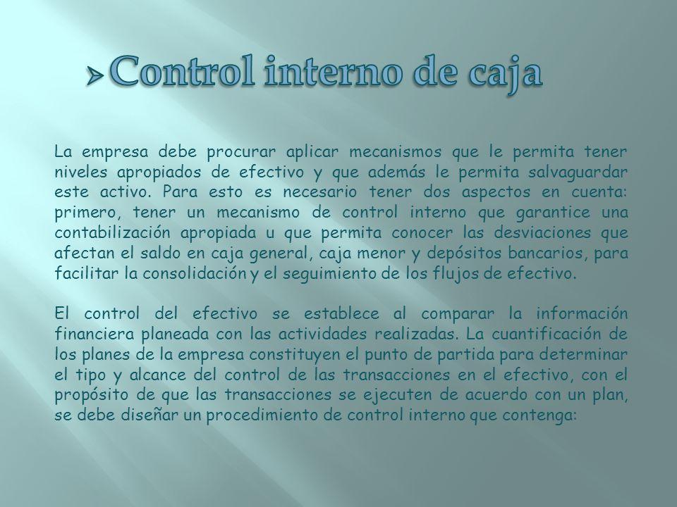 Control interno de caja