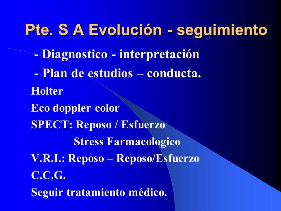 Pte. S A Evolución - seguimiento