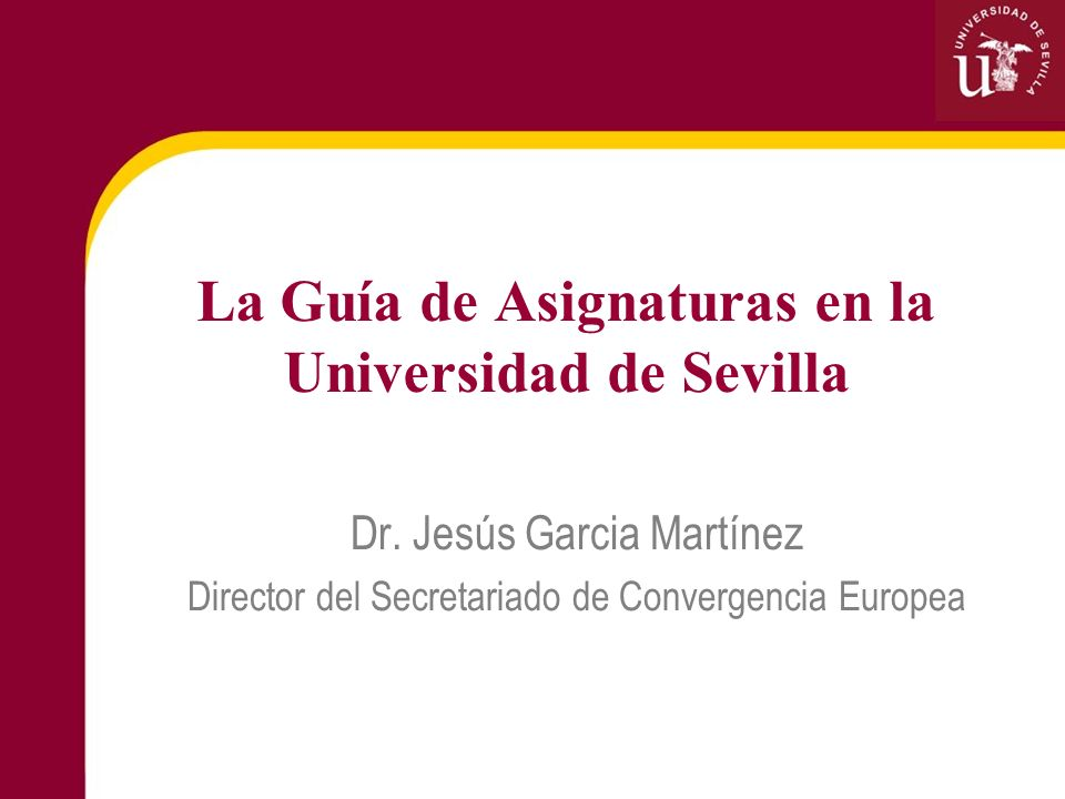 La Guía de Asignaturas en la Universidad de Sevilla