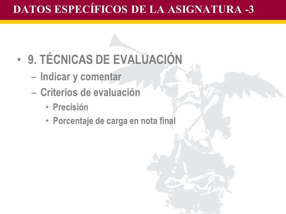 DATOS ESPECÍFICOS DE LA ASIGNATURA -3