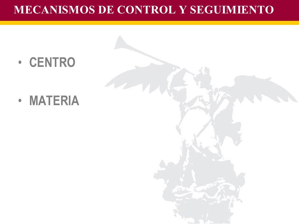 MECANISMOS DE CONTROL Y SEGUIMIENTO