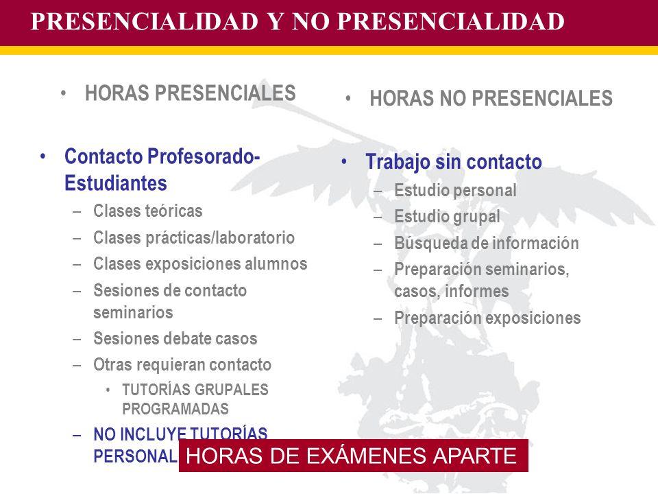 PRESENCIALIDAD Y NO PRESENCIALIDAD