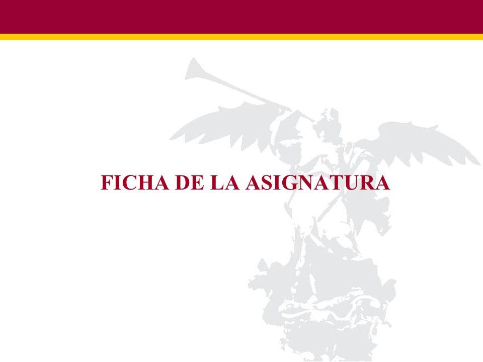 FICHA DE LA ASIGNATURA