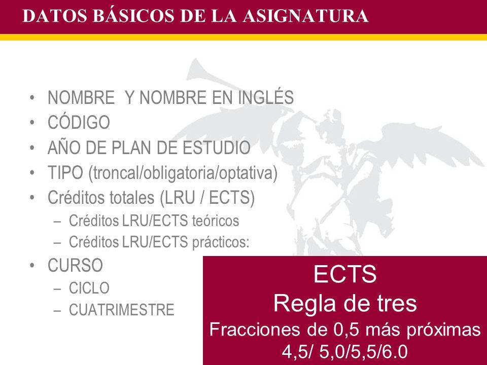 DATOS BÁSICOS DE LA ASIGNATURA
