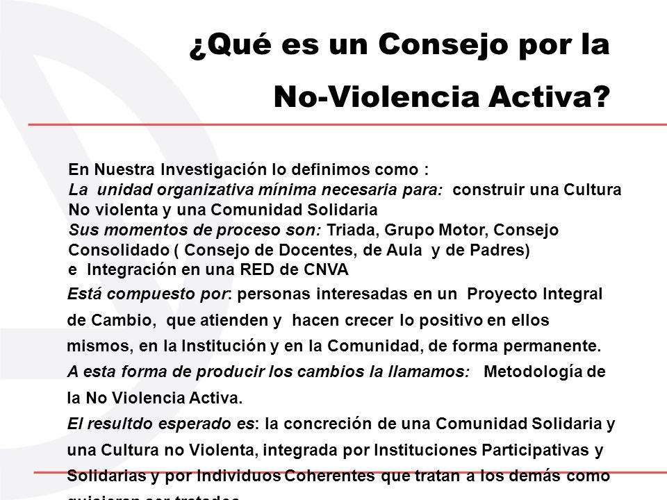 ¿Qué es un Consejo por la No-Violencia Activa