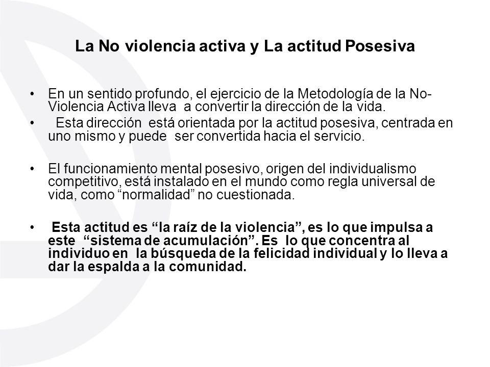 La No violencia activa y La actitud Posesiva