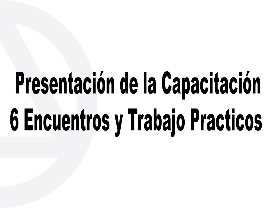 Presentación de la Capacitación 6 Encuentros y Trabajo Practicos