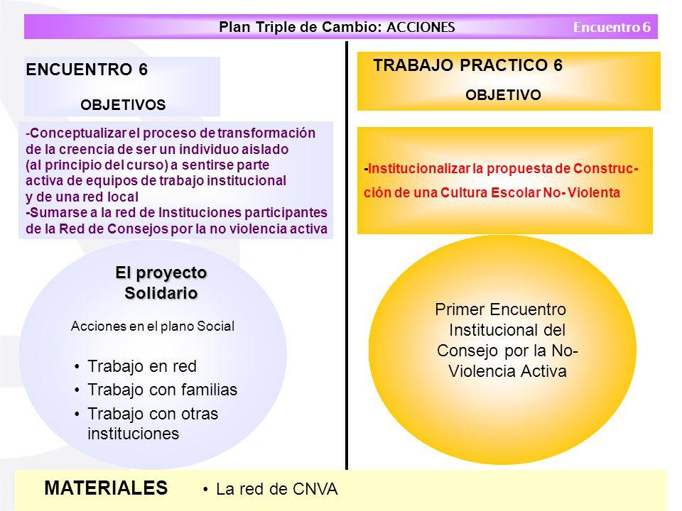 MATERIALES TRABAJO PRACTICO 6 ENCUENTRO 6 El proyecto Solidario