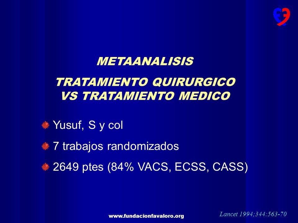 TRATAMIENTO QUIRURGICO VS TRATAMIENTO MEDICO
