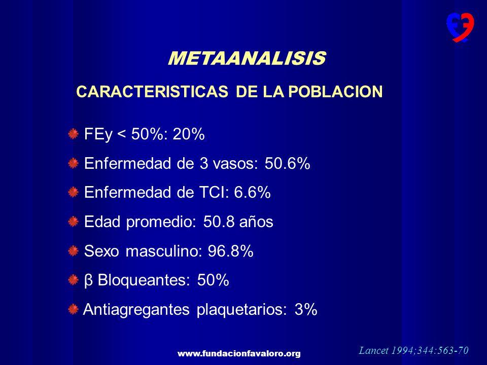 METAANALISIS CARACTERISTICAS DE LA POBLACION FEy < 50%: 20%