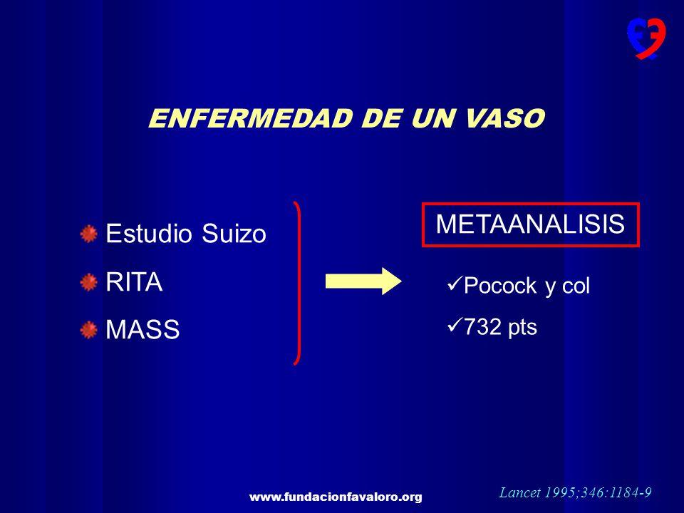 ENFERMEDAD DE UN VASO METAANALISIS Estudio Suizo RITA MASS