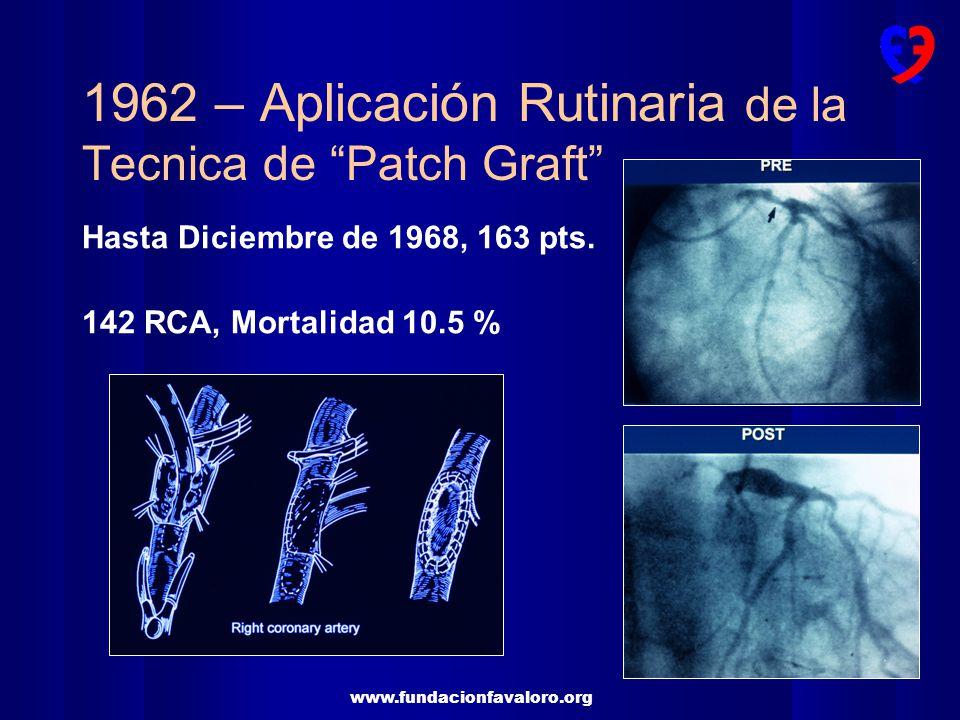 1962 – Aplicación Rutinaria de la Tecnica de Patch Graft