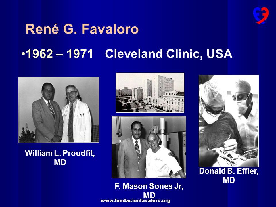 René G. Favaloro 1962 – 1971 Cleveland Clinic, USA