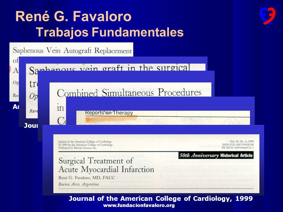 René G. Favaloro Trabajos Fundamentales
