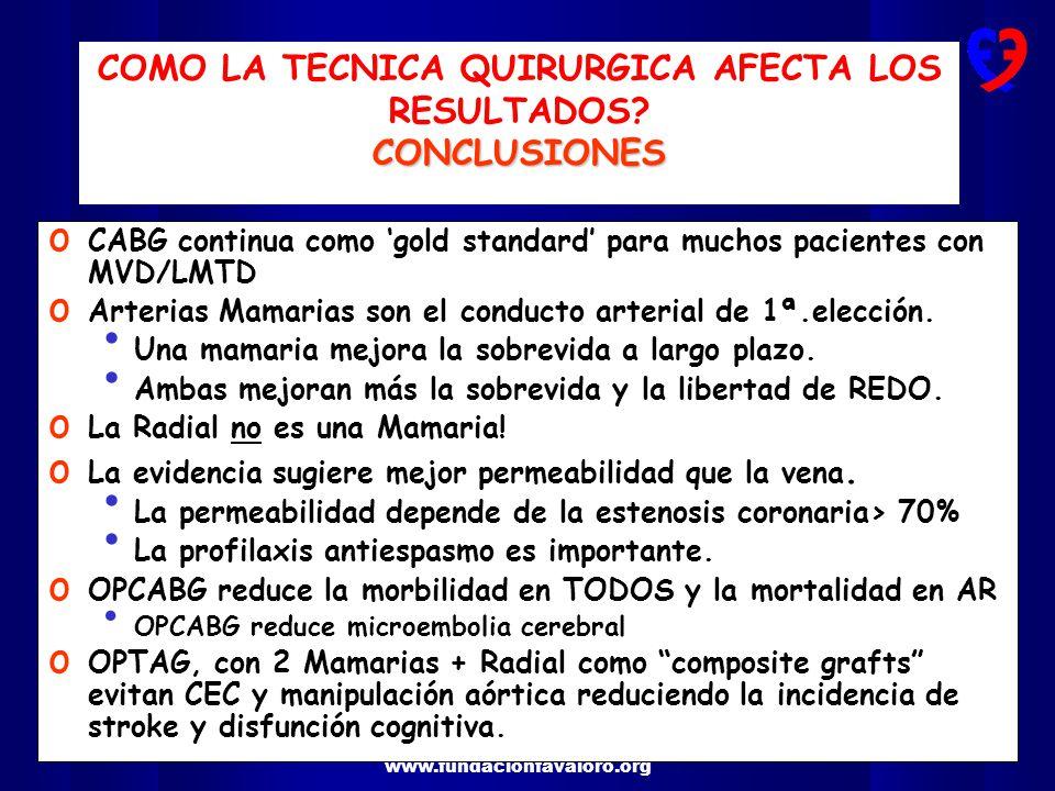 COMO LA TECNICA QUIRURGICA AFECTA LOS RESULTADOS CONCLUSIONES