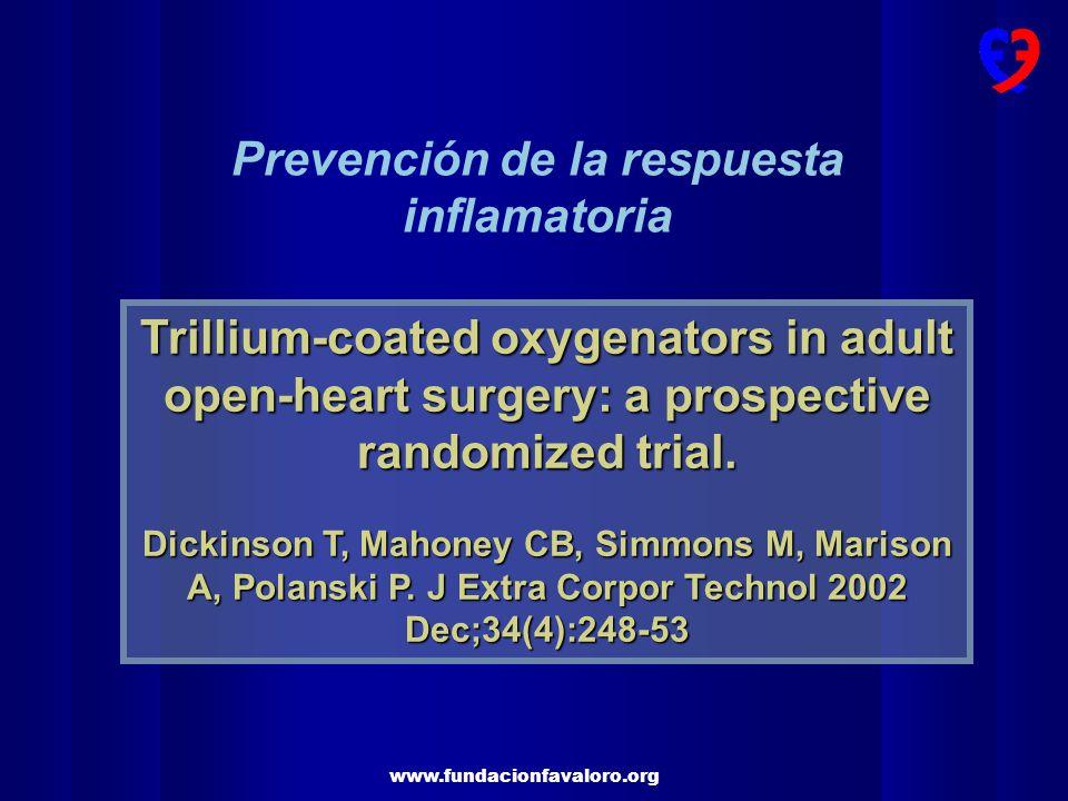 Prevención de la respuesta inflamatoria