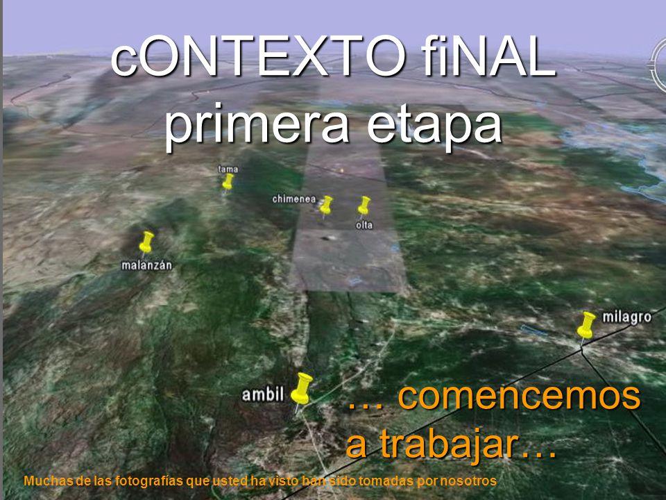 cONTEXTO fiNAL primera etapa