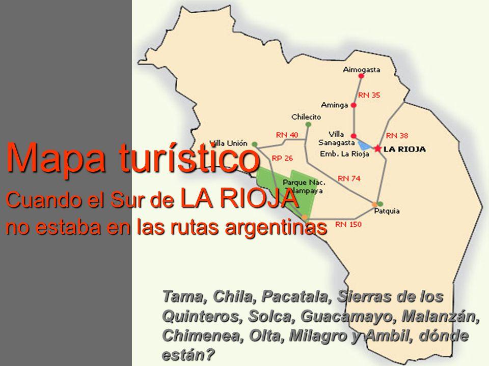 Mapa turístico Cuando el Sur de LA RIOJA