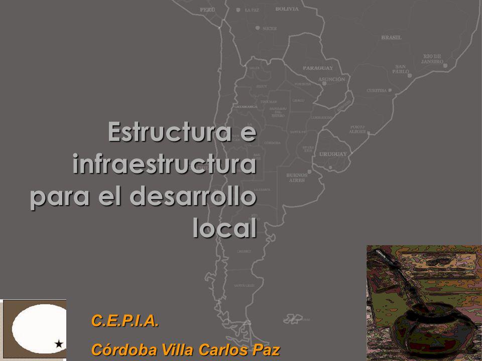 Estructura e infraestructura para el desarrollo local