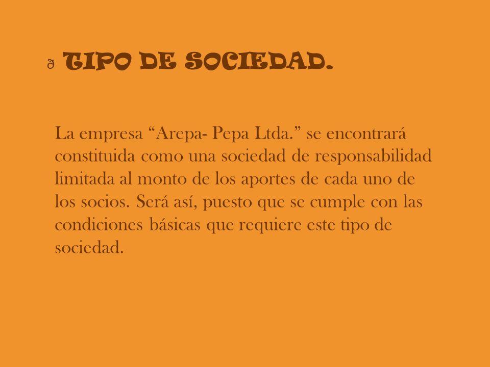TIPO DE SOCIEDAD.