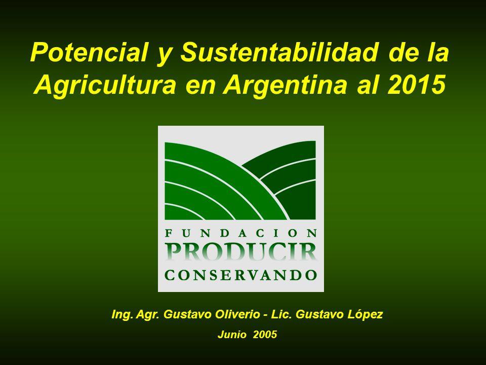 Potencial y Sustentabilidad de la Agricultura en Argentina al 2015