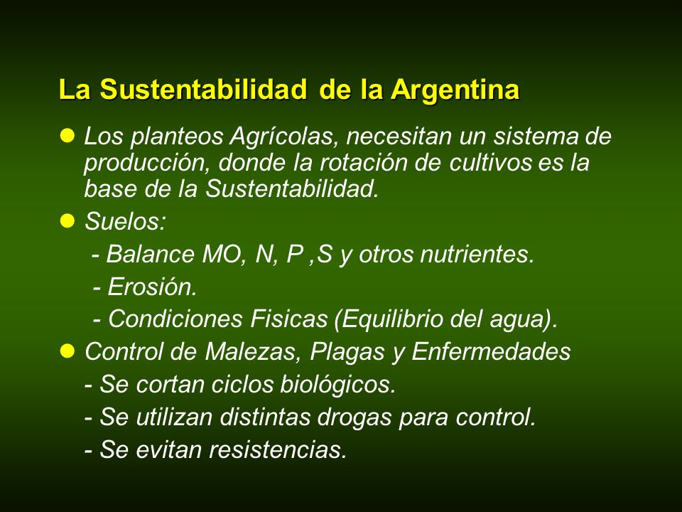 La Sustentabilidad de la Argentina