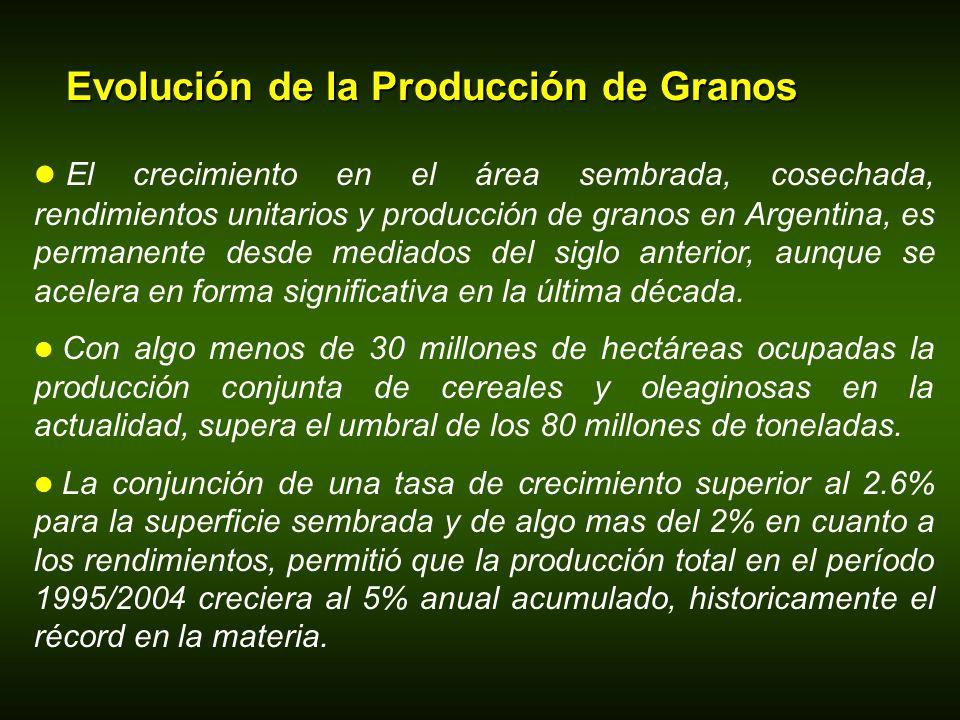 Evolución de la Producción de Granos