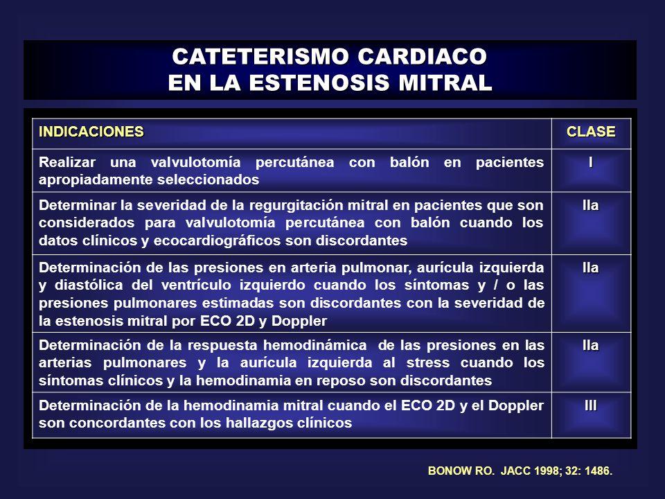 CATETERISMO CARDIACO EN LA ESTENOSIS MITRAL