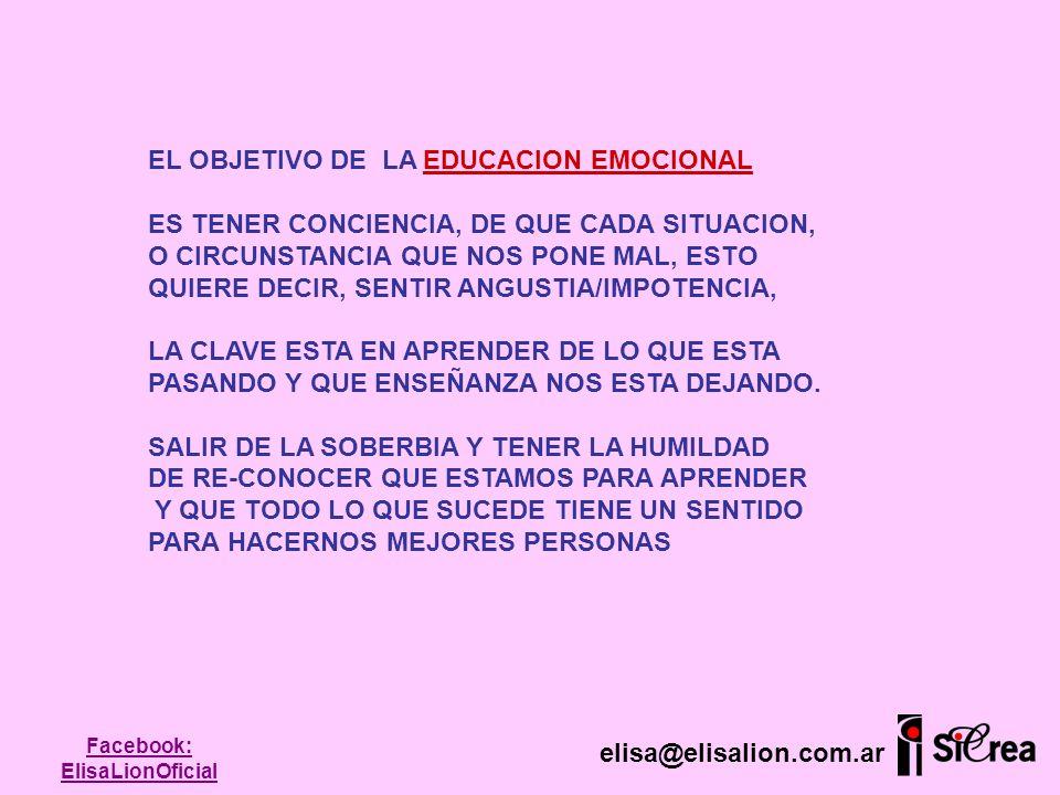 EL OBJETIVO DE LA EDUCACION EMOCIONAL