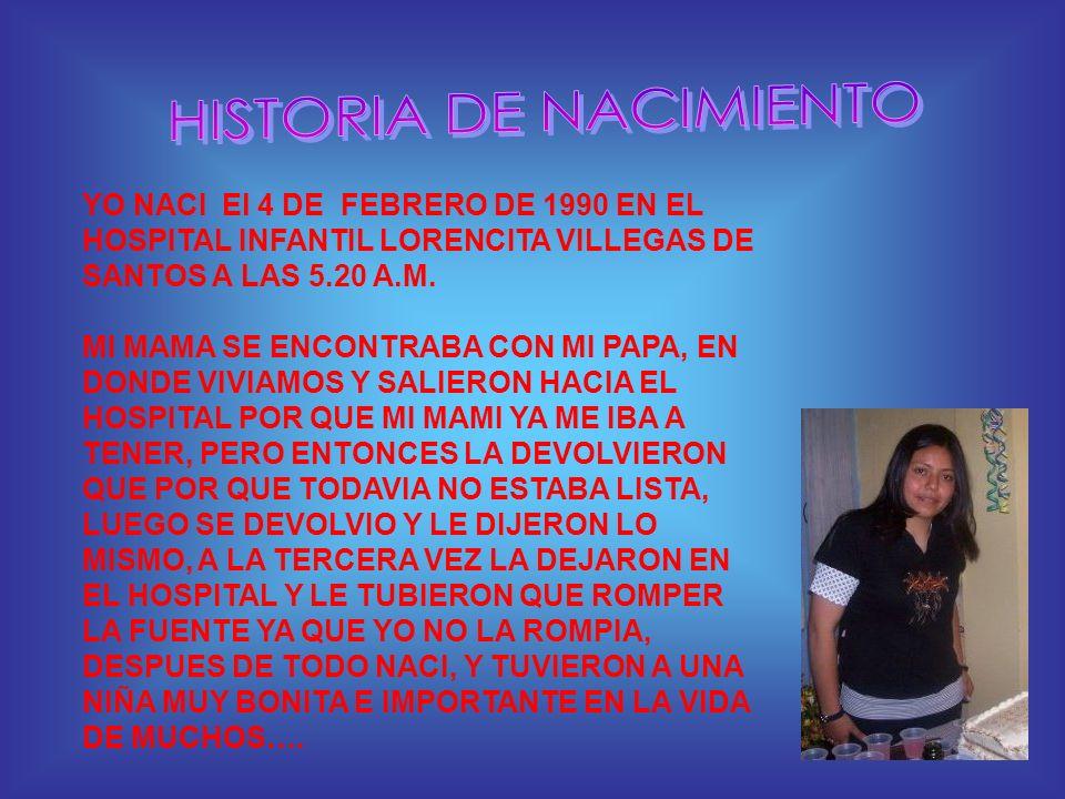 HISTORIA DE NACIMIENTO