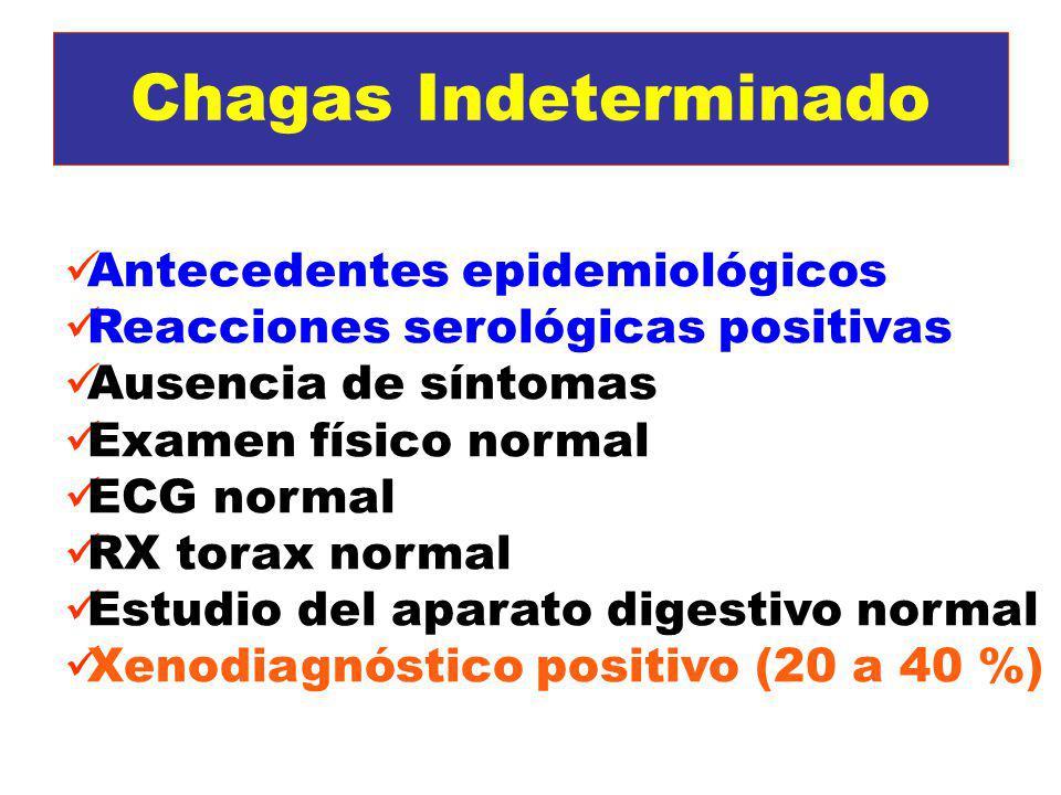Chagas Indeterminado Antecedentes epidemiológicos