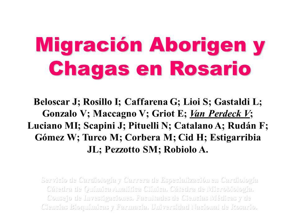Migración Aborigen y Chagas en Rosario